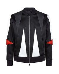 Neil Barrett | Black Abstract Bomber Jacket for Men | Lyst