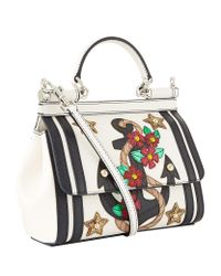 Dolce & Gabbana - Multicolor Mini Sicily Appliqué Top Handle Bag - Lyst