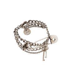 Alexander McQueen | Metallic Safety Pin Charm Bracelet | Lyst