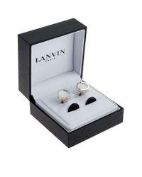 Lanvin | Multicolor Interchangeable Galaxy Circle Cufflinks for Men | Lyst