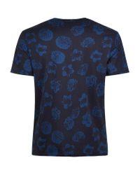 Sandro | Blue Calvi Floral T-shirt for Men | Lyst