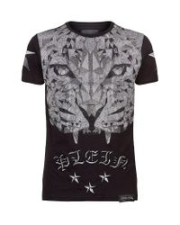 Philipp Plein - Black Swarovski Tiger Top T-shirt for Men - Lyst
