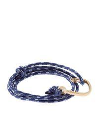 Miansai   Blue Gold-plated Hook Rope Bracelet   Lyst
