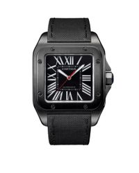 Cartier | Gray Large Adlc Coated Steel Santos 100 Automatic Watch 41mm | Lyst