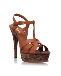 Saint Laurent - Natural Tribute Marrakech Sandals 105 - Lyst