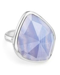 Monica Vinader - Metallic Siren Nugget Blue Lace Agate Cocktail Ring - Lyst