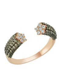 Bee Goddess - Brown Star Light Diamond Ring - Lyst