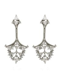 Fernando Jorge - White Fusion Triangular Earrings - Lyst