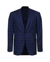 Stefano Ricci - Blue Checked Wool-silk Jacket for Men - Lyst