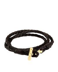 Tom Ford - Brown Logo Wrap Bracelet for Men - Lyst