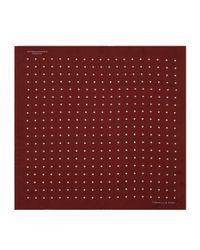 Turnbull & Asser - Red Polka Dot Silk Pocket Square for Men - Lyst