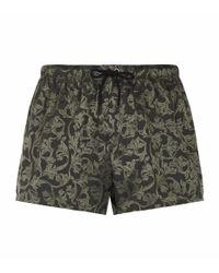 Versace - Green Barrocca Swim Shorts for Men - Lyst