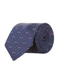 Eton of Sweden - Blue Patterned Tie for Men - Lyst