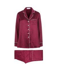 Olivia Von Halle   Red Polka Dot Lila Pyjamas   Lyst