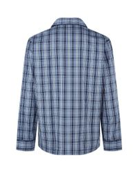 Harrods - Blue Plaid Pyjama Set for Men - Lyst
