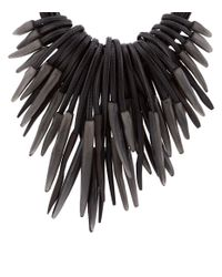 Eskandar - Black Multi-strand Carved Necklace - Lyst