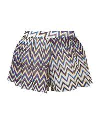 Missoni - Purple Lurex Zig Zag Shorts - Lyst