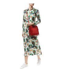Maje - Multicolor Floral Midi Shirt Dress - Lyst