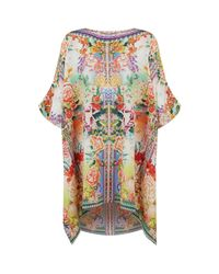 Camilla - Multicolor Embellished Short Kaftan - Lyst