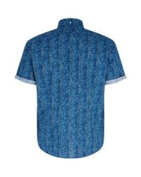 Eton of Sweden - Blue Slim Fit Fish Scale Shirt for Men - Lyst