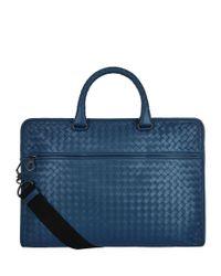 Bottega Veneta - Blue Intrecciato Briefcase for Men - Lyst