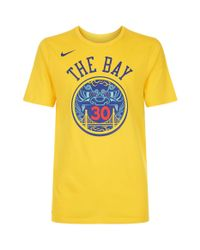 Nike - Yellow Stephen Curry Golden State Warriors T-shirt for Men - Lyst