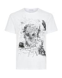 Alexander McQueen - White Skull T-shirt for Men - Lyst