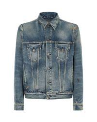 Gucci Blue Embroiderd Tiger Denim Jacket for men