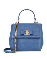Ferragamo - Green Small Carrie Shoulder Bag - Lyst
