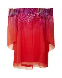 Elie Tahari - Red Calliope Off-the-shoulder Blouse - Lyst