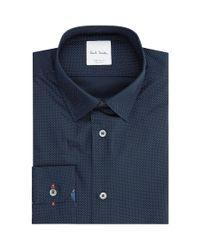 Paul Smith - Blue Pin Dot Formal Shirt for Men - Lyst
