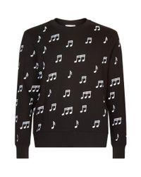 Sandro - Note Print Sweater, Black, M for Men - Lyst