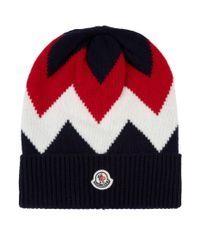b200d2837 Moncler Wool & Cashmere Hat in Blue for Men - Lyst