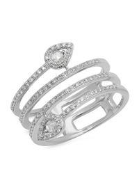Kenza Lee - Metallic Spiral Diamond Ring - Lyst