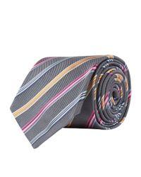 Paul Smith - Metallic Striped Silk Tie for Men - Lyst