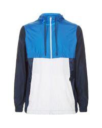 Under Armour - Blue Colour-block Windbreaker Jacket for Men - Lyst