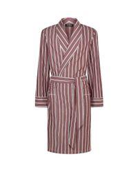 Harrods - Red Pinstripe Robe for Men - Lyst