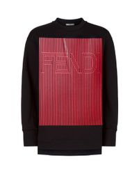 Fendi - Multicolor Striped Logo Sweater for Men - Lyst
