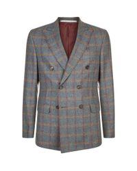 Pal Zileri - Gray Wool Check Suit Jacket for Men - Lyst