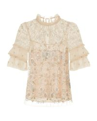 Needle & Thread - Constellation Embellished Top, Pink, Uk8 - Lyst