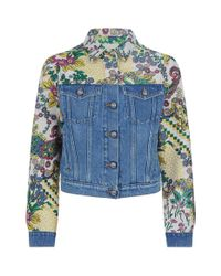 Etro - Blue Denim Jacket - Lyst