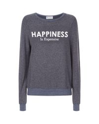 Wildfox - Blue Happiness Is Expensive Sweatshirt - Lyst