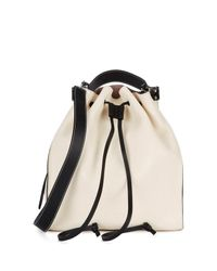 J.W. Anderson - Off-white Grained Leather Bucket Bag - Lyst
