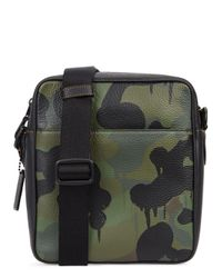 COACH Green Camoflauge-print Leather Cross-body Bag for men