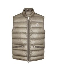 Moncler | Gray Gui Quilted Shell Gilet - Size 6 for Men | Lyst