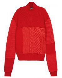 McQ Alexander McQueen - Red Chunky-knit Wool Blend Jumper for Men - Lyst