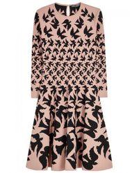 Alexander McQueen   Pink Blush Dove-intarsia Dress   Lyst