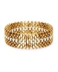 Alice Menter | Metallic Ivy Gold-plated Bracelet | Lyst