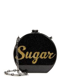 Edie Parker | Oscar Sugar Black Acrylic Box Bag | Lyst