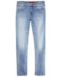 Replay | Jondrill Hyperflex Blue Skinny Jeans for Men | Lyst